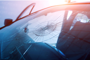 Broken Windshield and Glass Injuries