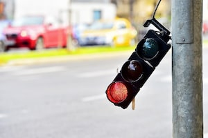 Broken traffic lights