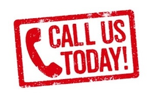 Call us today sign