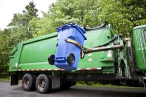 Garbage Trucks Cause Accident