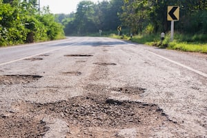Road pavement defects