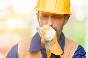 Worker coughing